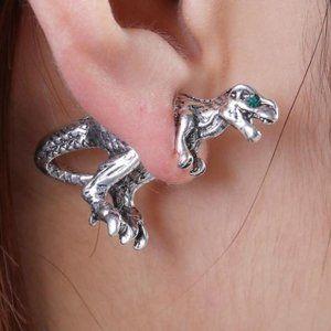 Jewelry - T-Rex Dinosaur SIlver Stud Earrings!